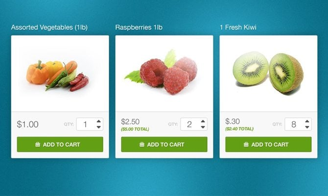 eCommerce UI