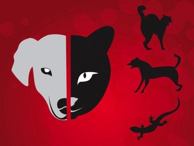 Simple wild animal logo vectors