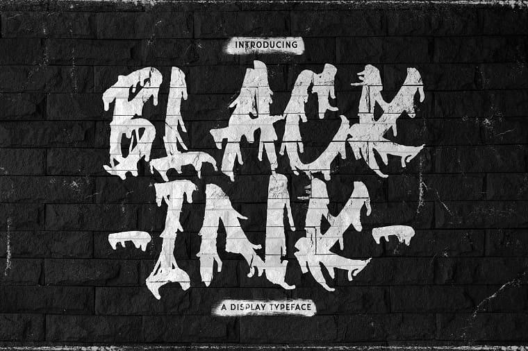 Black Ink Font