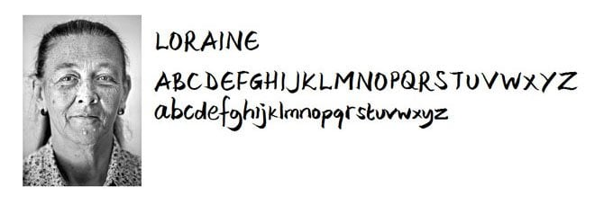 Loraine-Holmless-Font