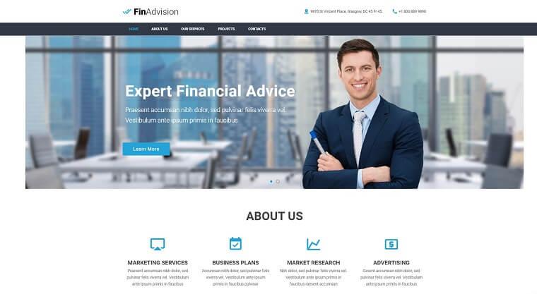 FinAdvision - Financial Advisor Adobe CC 2017 Muse Template