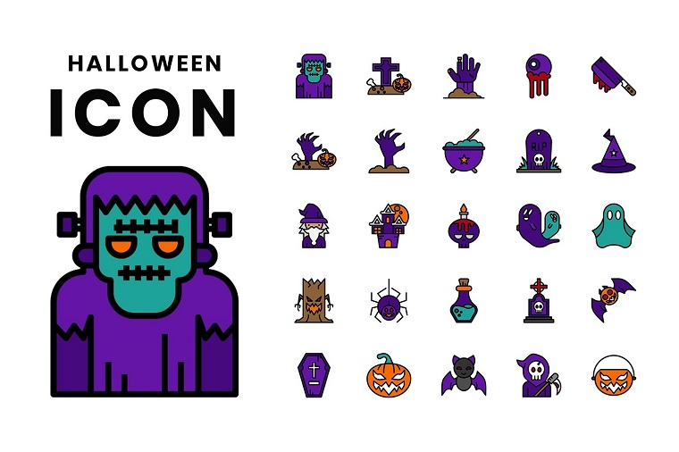 Halloween Iconset Template