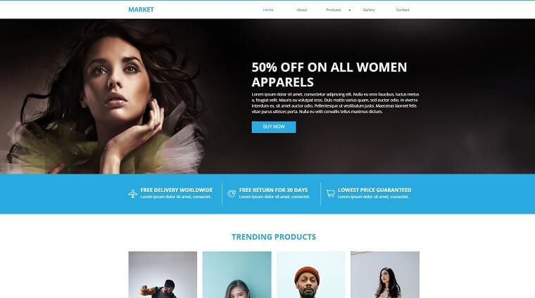 Market E-commerce Muse Template