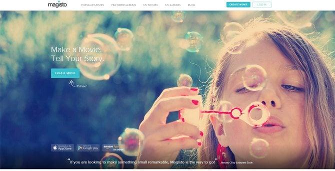 Close-Up Photography Web Design