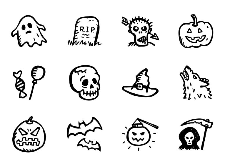 Spooky Icons Free — Hand-Drawn Halloween Icons
