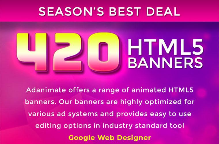 420 Animated Html5 Banners Bundle