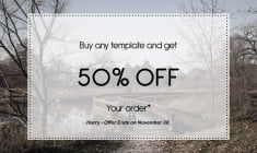Shopping Mania from TemplateMonster: 50% OFF Timed to Thanksgiving Day