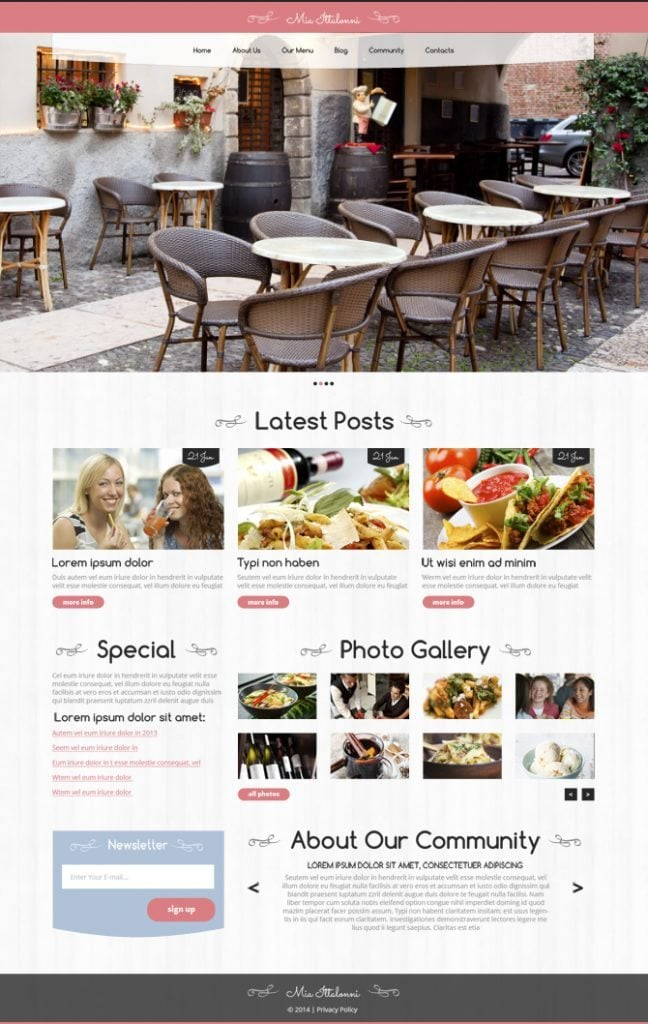 Cozy up Your Site with Free WordPress Restaurant Theme
