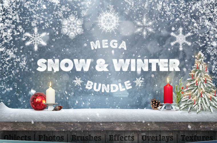 Mega Snow And Winter Bundle Ui Elements