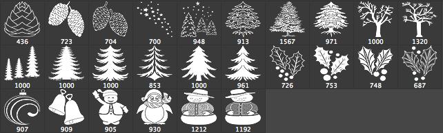 26 Christmas Brushes