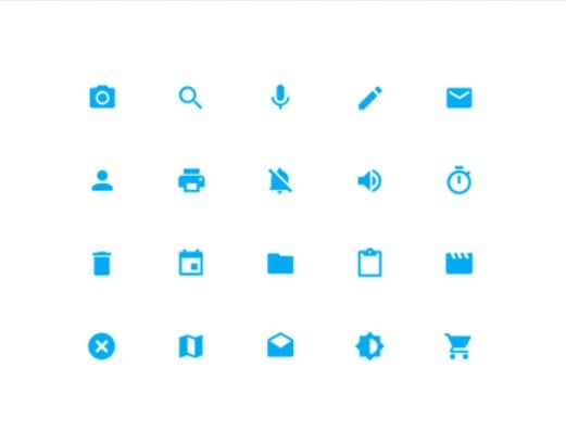 Material Design Icons Blue