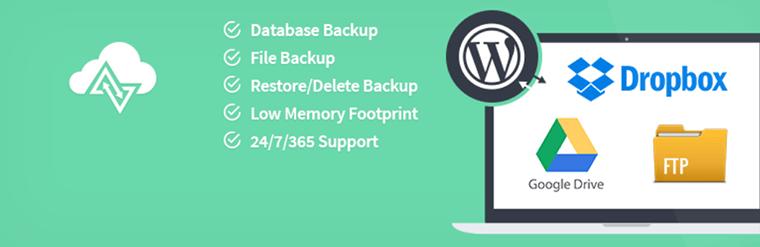 WordPress backup plugin.