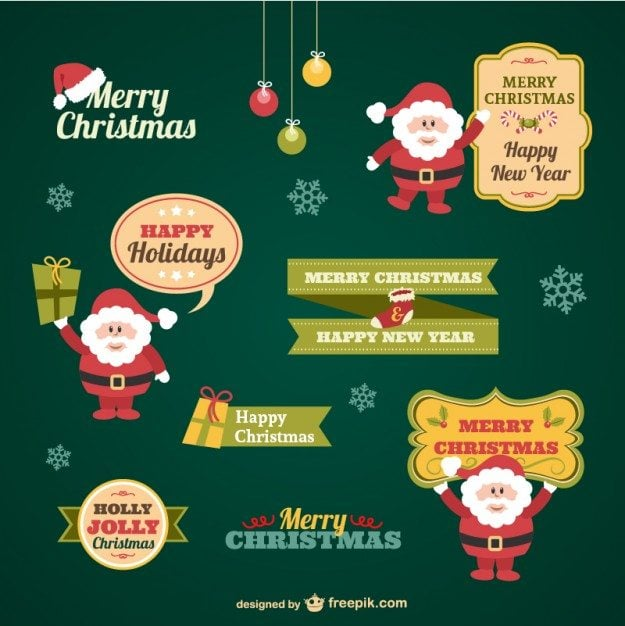 vintage-christmas-stickers-collection