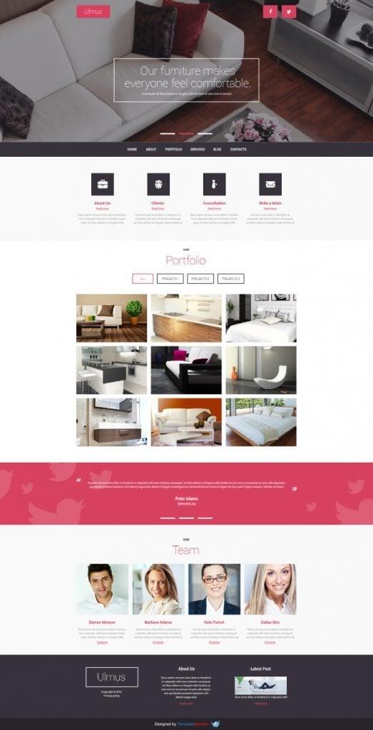 Interior Furniture Free Joomla Template