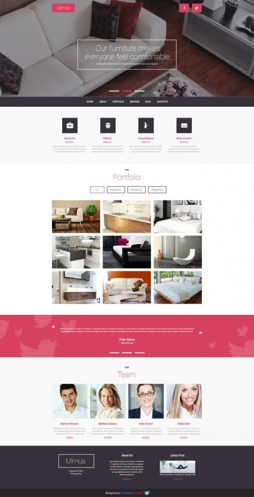 Stupendous Distinct Modern Free Joomla Template For Interior Furniture Business Largest Home Design Picture Inspirations Pitcheantrous