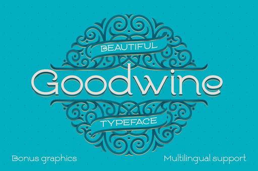 Goodwine Font, Label, Mockup Font