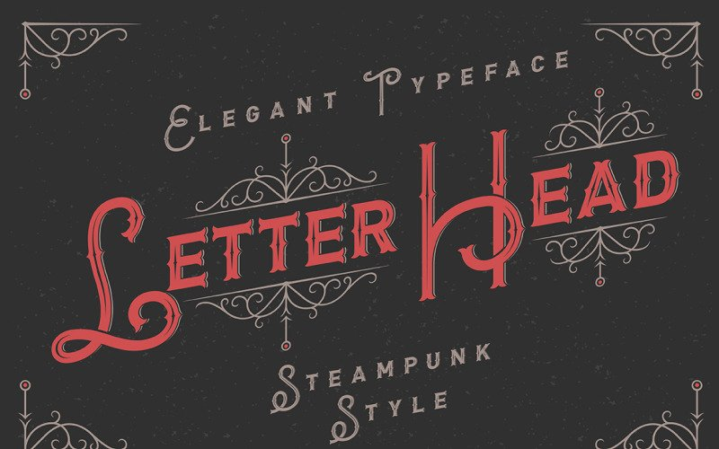 Letterhead Typeface with Ornate Font