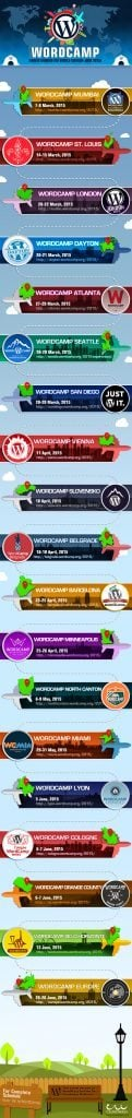 word camp schedule infographic