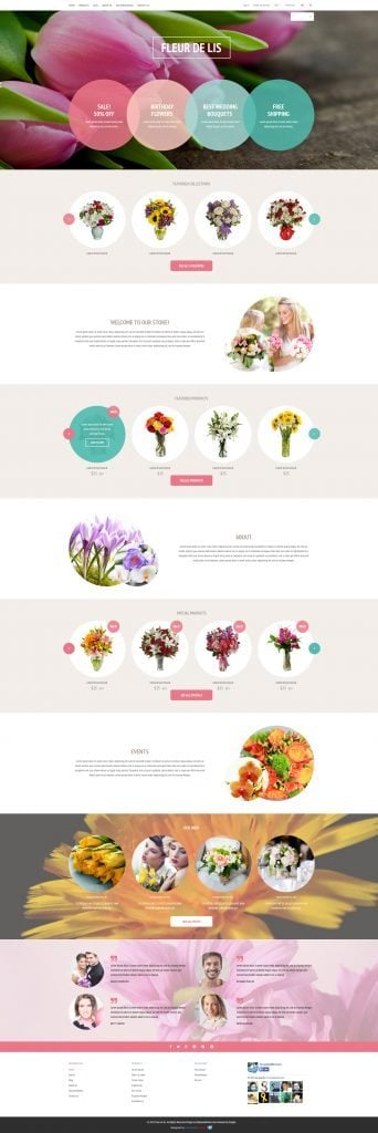 Free Shopify Theme for Flower Shop