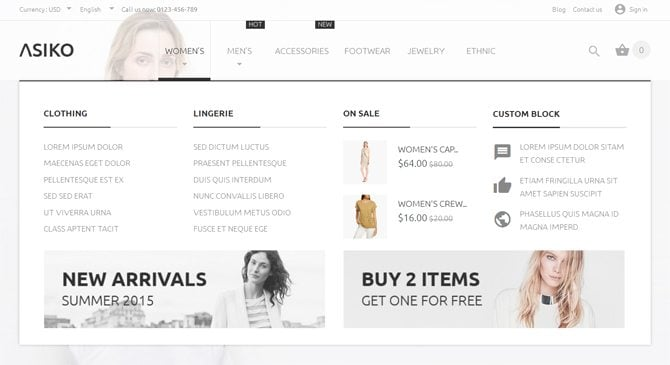new prestashop themes for footwear and clothes