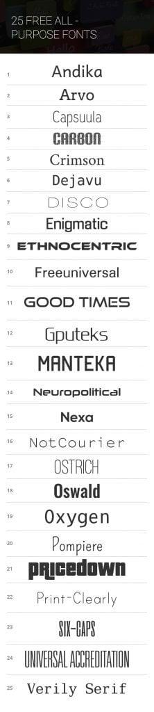 free universal fonts