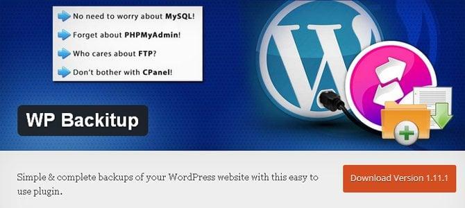 free WordPress backup plugins