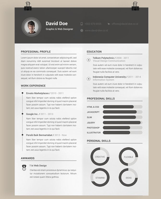 creative free printable resume templates to get a jobcreative   printable resume templates
