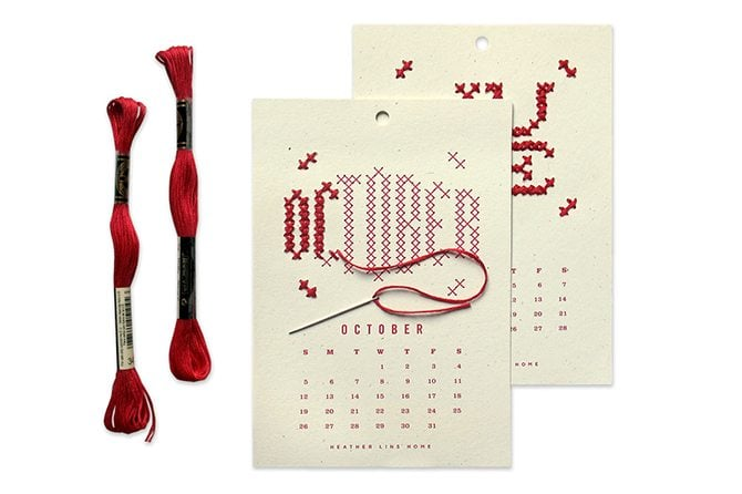 Calendar Typography Kit : Christmas gift ideas for designers and geeks