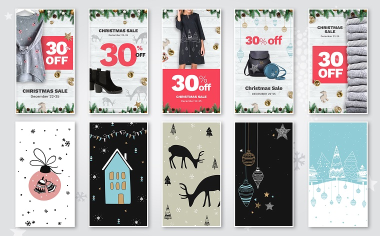 10 Christmas Instagram Stories Banners