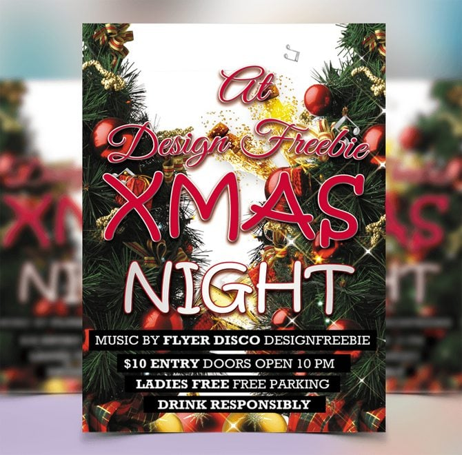30 Free Christmas And New Year Psd Promo Flyers