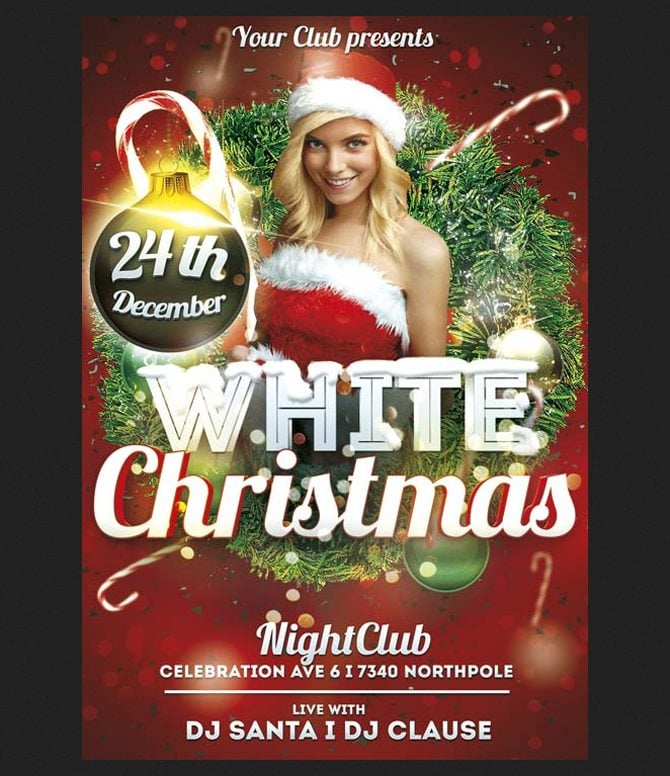 Christmas Flyer.30 Free Christmas And New Year Psd Promo Flyers