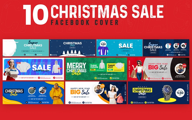 Christmas Sale 10 Facebook Covers