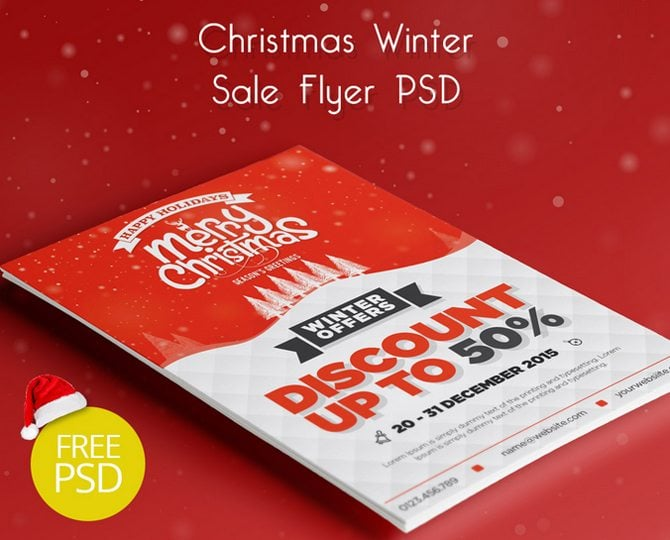 Christmas Leaflet Ideas.30 Free Christmas And New Year Psd Promo Flyers