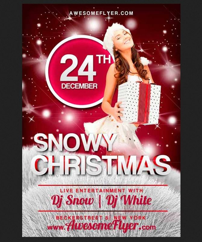 free christmas party flyer templates