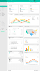 "Simple Bootstrap Dashboard Admin Template - ""MonsterAdmin"" - admin template 3 small"