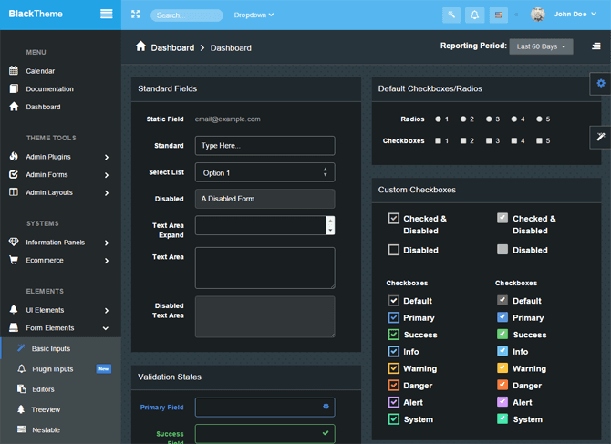 "Simple Bootstrap Dashboard Admin Template - ""MonsterAdmin"" - basic input"