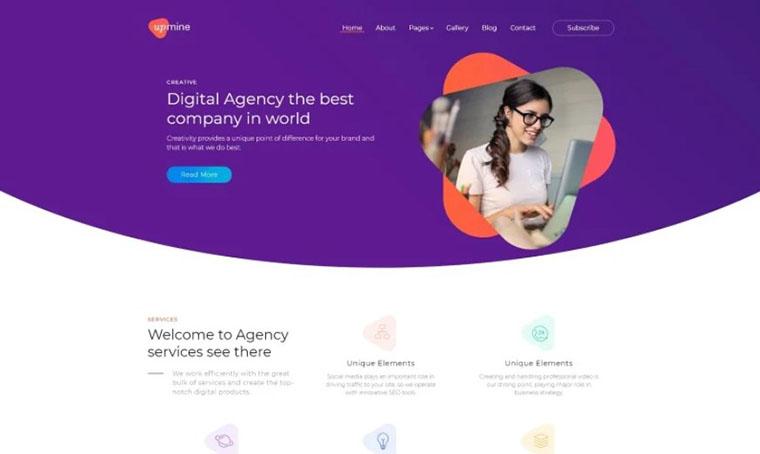 UpMine Digital Agency Joomla Template