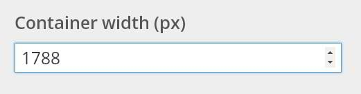 Container width settings
