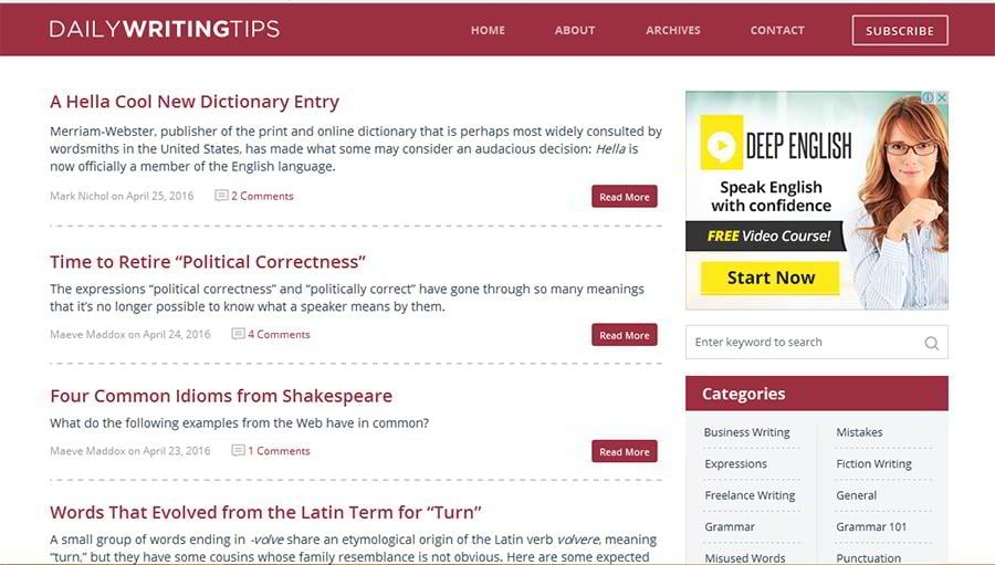 Top 15 Writing Resources for Bloggers and Webmasters