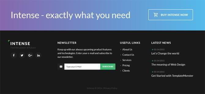 intense complex html template