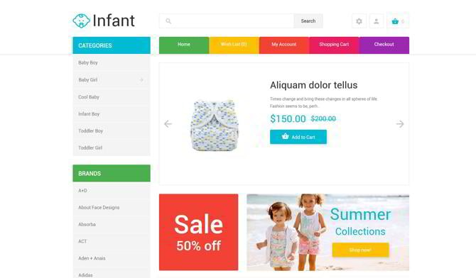 Infant-Clothing-Store-OpenCart-Template
