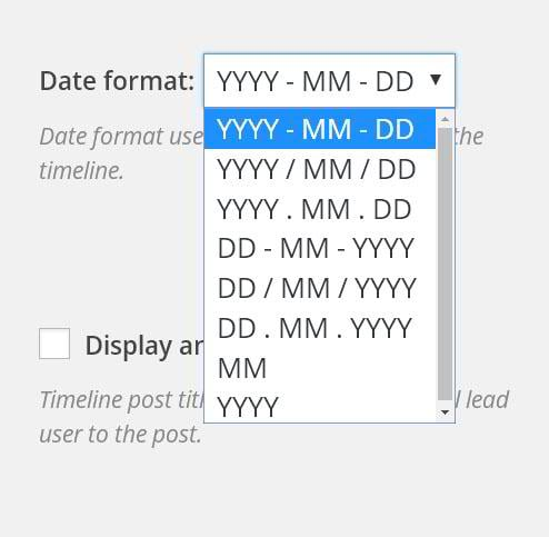 Choosing a date format