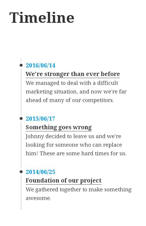 TM Timeline, vertical layout