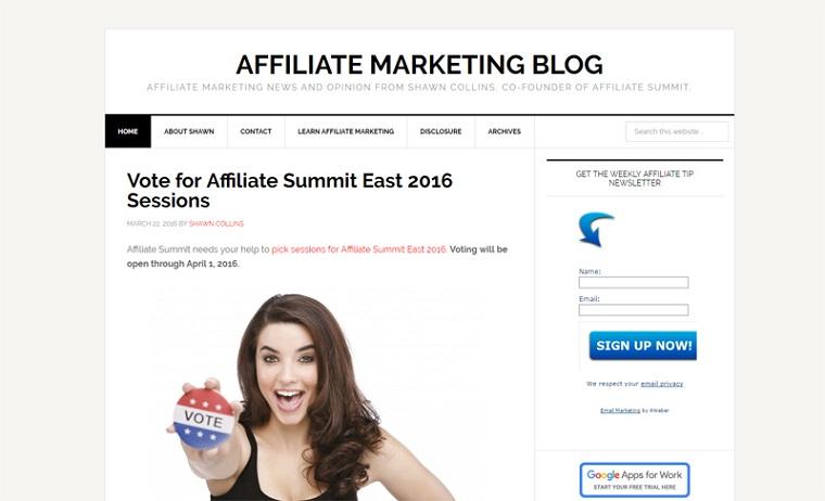 Shawn Collins Affiliate Marketing Blog.