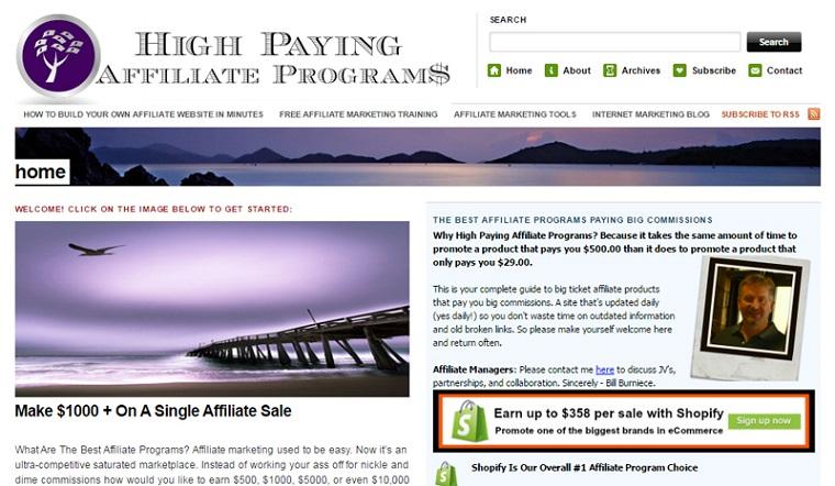 High Paying Affiliate Programs blog.