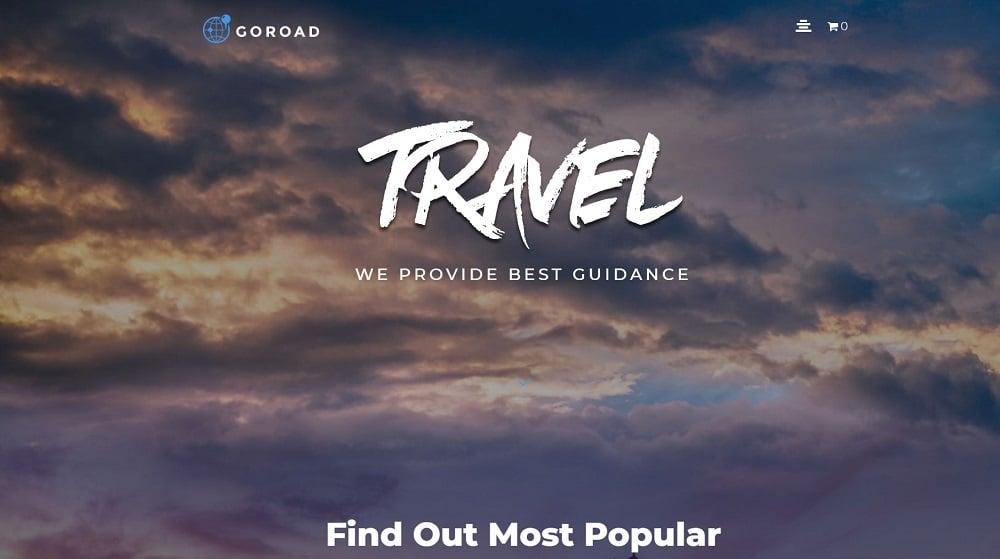 Goroad - Travel Agency Multipurpose Modern Elementor WordPress Theme