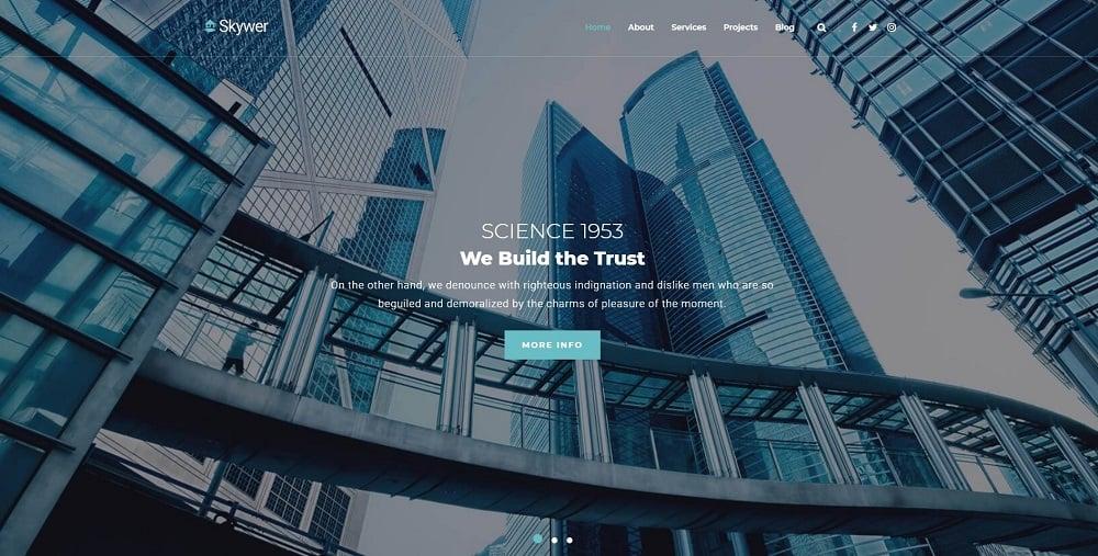 Skywer - Architecture Multipurpose Modern Elementor WordPress Theme