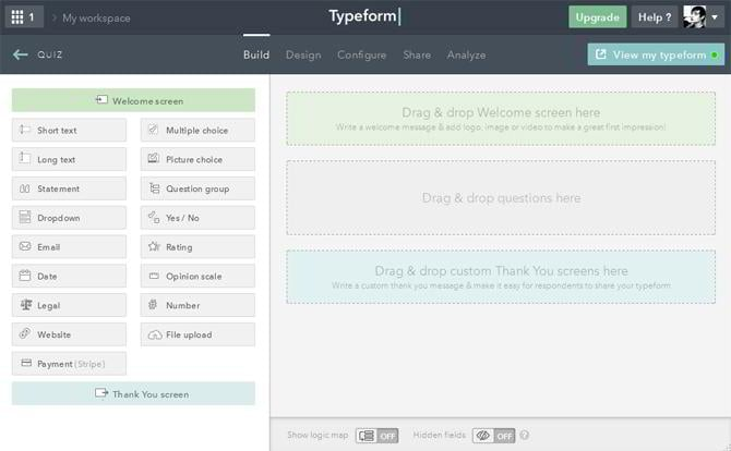Typeform Web Form Builder: Question Your Customers Inside Out