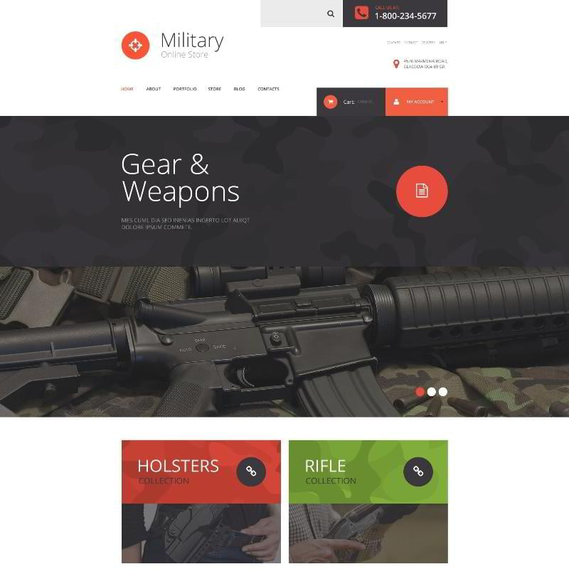 Military Store WooCommerce Theme