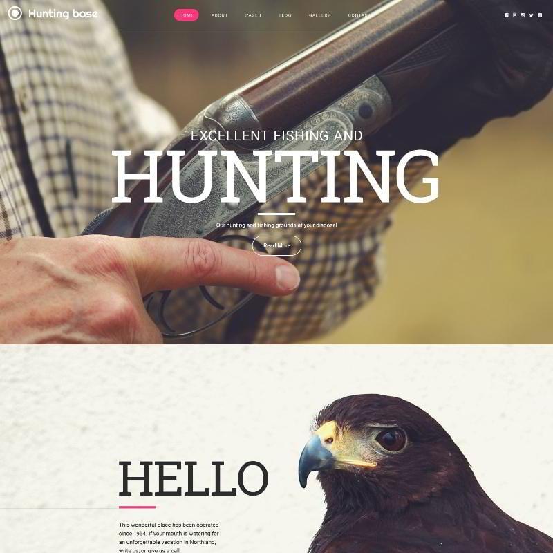 Hunting Joomla Template